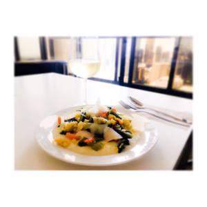rice cream with veggie