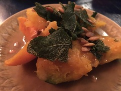 japanese pumpkin with sage and brown butter